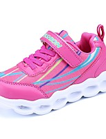 Girls' Athletic Shoes Running Light Up Shoes Comfort Light Soles Breathable Mesh Fall Winter Casual Outdoor Lace-up Flat HeelBlushing