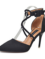 Da donna Tacchi Comoda Estate PU (Poliuretano) Footing Casual Lacci A stiletto Nero Marrone Rosa 7,5 - 9,5 cm