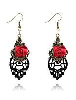 Women's Drop Earrings Jewelry Fashion Personalized Hypoallergenic Alloy Flower Dream Catcher Jewelry ForParty Birthday Gift Evening Party
