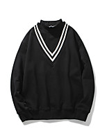 Men's Going out Casual/Daily Sweatshirt Solid Turtleneck Micro-elastic Cotton Polyester Others Long Sleeve Spring Fall