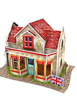 Kit fai-da-te Puzzle 3D Puzzle Modellino di carta Giocattoli Edificio famoso Casa Architettura 3D Fai da te Unisex Pezzi