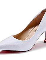 Femme Chaussures à Talons Confort Eté Polyuréthane Habillé Talon Aiguille Noir Argent Rose dragée clair 7,5 à 9,5 cm