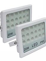 JIAWEN 2pcs LED Flood Light 20W 2000LM Cool Whte or Warm White Outdoor Waterproof IP65 LED Light Landscape lights (AC85-265V)