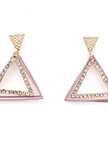 Drop Earrings Women's Fashion Triangle Style Light Pink Light Blue Rhinestone Earrings For Office & Career Party Daily Movie Jewelry