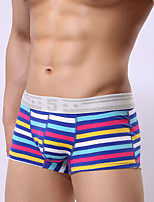 Men's Push-Up Striped Boxers Underwear,Cotton