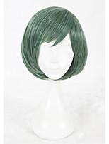 Parrucche sintetiche Pantaloncini Lisci Verde Parrucca Faux Locs Parrucca Cosplay costumi parrucche