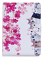 cheap -Case For Apple iPad Pro 10.5 iPad (2017) PU Leather Material Flower Cat Pattern Flat Sleeve Pro 9.7 '' Air 2 Air 2 3 4