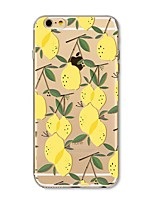 Capinha Para Apple iPhone X iPhone 8 Plus Transparente Estampada Capa Traseira Azulejo Fruta Macia TPU para iPhone X iPhone 8 Plus iPhone