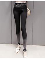 Women's Medium Solid Color Legging,Color Block