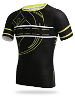 XINTOWN Cycling Jersey Men's Men's Short Sleeves Bike T-shirt Jersey Quick Dry Stretchy Softness Sweat-Wicking Breathability UV resistant