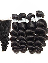 cheap -Brazilian Loose Wave Human Hair Weaves 5 Pieces 0.23