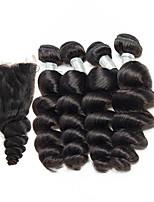 Недорогие -Бразильские волосы Свободные волны Ткет человеческих волос 5 предметов 4 предмета 0.23