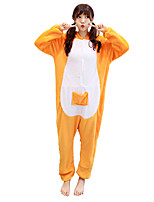 kigurumi Pyjamas Kangourou Collant/Combinaison Fête / Célébration Pyjamas Animale Halloween Animal Molleton Kigurumi Pour Couple Unisexe