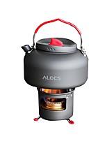 ALOCS Supports Bouilloire de Camping Réchaud de Camping Café et thé Cuivre Alumine Dure pour Pique-nique Camping & Randonnée