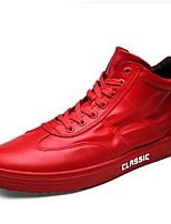 Da uomo Sneaker Suole leggere Primavera Autunno Di pelle Casual Lacci Piatto Bianco Nero Rosso 5 - 7 cm