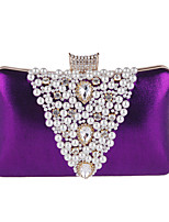 Damen Taschen Ganzjährig Polyester Abendtasche Strass Perlen Verzierung für Hochzeit Veranstaltung / Fest Formal Gold Schwarz Silber
