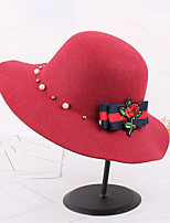 Women's Fashion Roses Flower Print And Pearls  Sun Hat & Hats