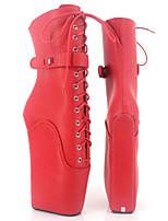 Damen Stiefel Neuheit Modische Stiefel Herbst Winter PU Party & Festivität Plateau Schwarz Orange Purpur Rot Rosa 12 cm & mehr
