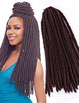 24 strands/pcs synthetic kanekalon fauxlocs braiding hair extensions 14 18 inch soft dread locs soft twist braided hair mambo faux locs 6-8pcs/head