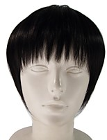 Cosplay Wigs Short Synthetic Fiber Wig for Women Black Color Costume Wig Anime Cos  Wig
