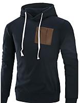 Taglie forti Felpa con cappuccio Da uomo Sport Per eventi Casual Tinta unita Media elasticità Cotone Manica lunga Autunno Inverno