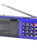 L-83 Rádio portátil Relogio Despertador Player MP3 Despertador Cartão TFWorld ReceiverVermelho Azul