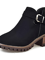 Women's Boots Comfort Spring Fall Fabric Casual Buckle Low Heel Army Green Black 1in-1 3/4in