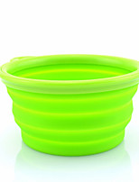 Cat Dog Bowls & Water Bottles Pet Bowls & Feeding Portable Foldable Blushing Pink Blue Green Red Yellow