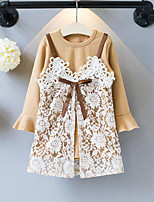 Girls' Patchwork Sets,Rayon Polyester Spring Fall Long Sleeve Clothing Set