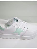 Da donna Sneakers Comoda Primavera Autunno PU (Poliuretano) Casual Bianco Piatto
