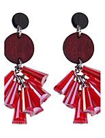 Per donna Orecchini a goccia Gioielli stile della Boemia Personalizzato Stile semplice Cristallo Legno Gioielli PerMatrimonio Altro