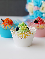 50pcs/lot Filigree Vine Cross Laser Cut CupCake Wrappers Wedding Birthday Baby Shower Decoration Supplies.