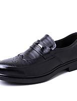 Недорогие -Муж. обувь Натуральная кожа Кожа Весна Осень Формальная обувь Обувь для дайвинга Мокасины и Свитер для Повседневные Коричневый Черный