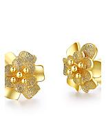 Herre Dame Stangøreringe Mode minimalistisk stil Klassisk Elegant Sølvbelagt Smykker Smykker Til Bryllup Fest Fødselsdag Daglig Afslappet