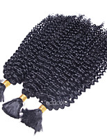 Kinky Curly Bulk Hair Brazilian Virgin Hair Jet Black 1 Piece Lot Human Hair Bulk No Attachment