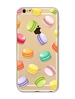 cheap -Case For Apple iPhone X iPhone 8 Plus Transparent Pattern Back Cover Tile Food Soft TPU for iPhone X iPhone 8 Plus iPhone 8 iPhone 7 Plus