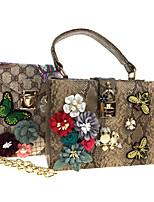 Donna Sacchetti Per tutte le stagioni Similpelle sacchetto regola Set di borsa da 2 pezzi Con diamantini Con applique Dettagli con