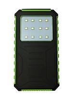12000mAh Bank-externer Batterie 5 Akku-Ladegerät Taschenlampe Solarlade Wasserdicht LED