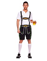 Oktoberfest/Beer Cosplay Cosplay Costumes Outfits Male Adults' Oktoberfest Festival/Holiday Halloween Costumes Black Vintage