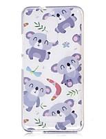 abordables -Funda Para Xiaomi Transparente Diseños Funda Trasera Oso Panda Caricatura Suave TPU para Xiaomi Redmi Note 4 Xiaomi Redmi Note 3