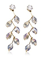 Drop Earrings Women's Fashion Leaf Style Gold Rhinestone Earrings For Office & Career Party Daily Movie Jewelry