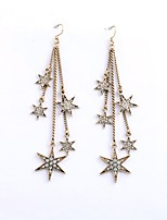 Women's Drop Earrings Imitation Diamond Floral Gray Pearl Star Jewelry For Party Gift Evening Party Stage