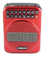 L16 Rádio portátil Relogio Despertador Despertador Preto Vermelho Azul