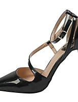 Women's Sandals Basic Pump Comfort PU Spring Summer Office & Career Party & Evening Dress Basic Pump Comfort Buckle Chunky Heel Gray Black