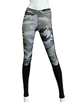 Women's Running Tights Gym Leggings Wearable Breathability Stretchy Tights Bottoms for Yoga Running/Jogging Exercise & Fitness Polyester