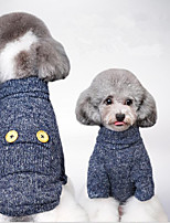 Dog Sweatshirt Dog Clothes Party Casual/Daily Holiday Sports Christmas Solid Blue