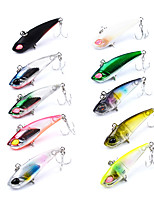 HiUmi 1 Pc Plastic Fishing Lure 4.2cm 3.3g Mini Metal VIB Lure Fishing Bait 12# Hook Fishing Tackle Random Color