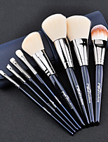 1set Makeup Brush Set Synthetic Hair Easy to Use Easy Carrying Easy to Carry Copper Wood Men Face Men and Women Nursing Daily Eyes Lips