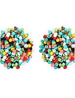 Per donna Orecchini a bottone Gioielli Di tendenza Vintage stile della Boemia Lega Rotondo Gioielli Per Feste Quotidiano Casual Evento