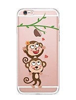 Per iPhone X iPhone 8 Custodie cover Transparente Fantasia/disegno Custodia posteriore Custodia Con logo Apple Cartoni animati Morbido TPU